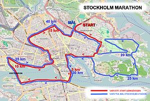Stockholm Marathon - Course from 2010 onwards