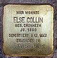 Stolperstein Cicerostr 61 (Wilmd) Else Collin.jpg