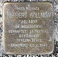 Stolperstein Feldzeugmeisterstr 5 (Moabi) Herbert Gollnow.jpg