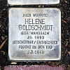 Stolperstein Hadrianstr 15 Helene Goldschmidt