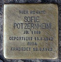 Photo of Sofie Potzernheim brass plaque