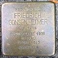 Stolperstein Kleve Kavarinerstraße 42 Friederich Gonsenheimer.jpg