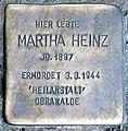 Stolperstein Oranienburger Str 285 (Witt) Martha Heinz.jpg