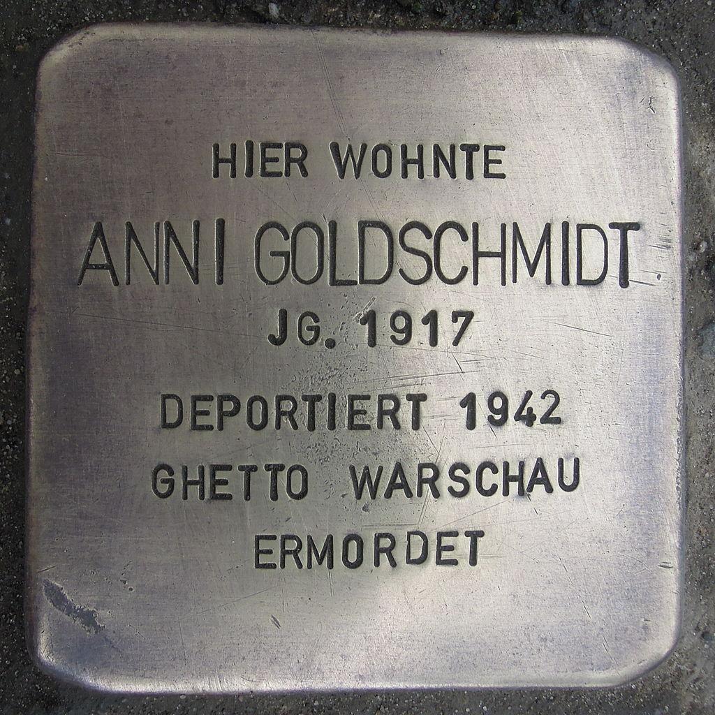 Stolperstein für Anni Goldschmidt