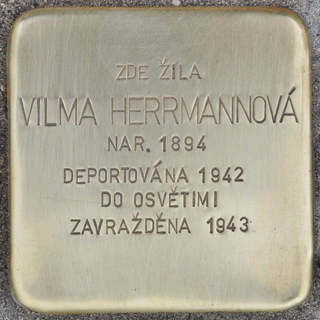 Stolperstein für Vilma Herrmannova (Slatiňany).jpg