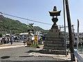 Stone lantern of Tadanoumi Port and Kure Line.jpg
