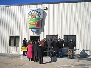 Stonyfield Farm is an organic yogurt maker loc...