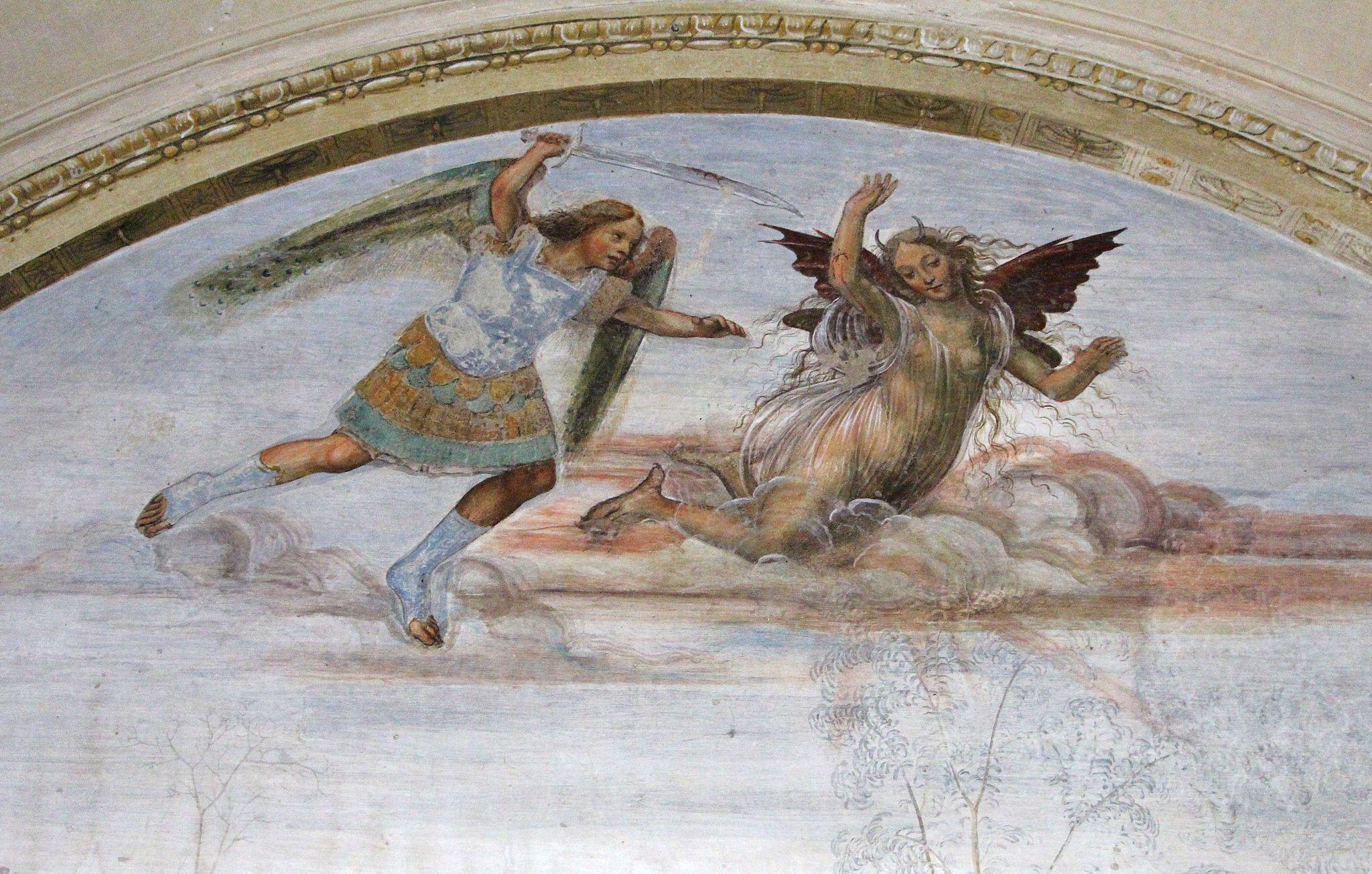 Storie di s. benedetto, 08 sodoma - Come Benedetto tentato d'impurità supera la tentazione 02