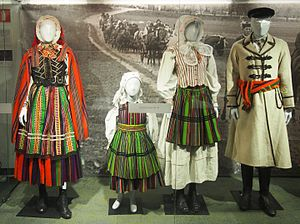 National costumes of Poland - Opoczno and Piotrków County in central Poland