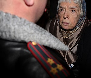 Lyudmila Alexeyeva - Alexeyeva in the Strategy-31 protest, 2010