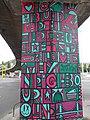Street art, BAH junction overpass, Gellérthegy, Németvölgy, 2016 Budapest.jpg