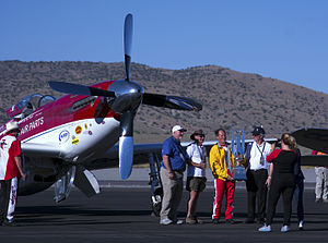 Reno Air Races - Strega Tiger and Hoot the 2015 Unlimited Air Race Champions by D Ramey Logan