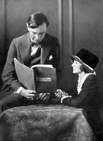 Stuart Armstrong Walker - Stuart Walker reading the stage adaptation of Booth Tarkington's Seventeen with actress Lillian Ross, who played the role of Jane in the Broadway production (1918)