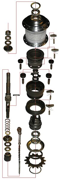 ファイル:Sturmey Archer 3spd bicycle hub.jpg