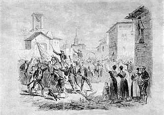 Carlism - Don Carlos calling the Navarrese in 1833.
