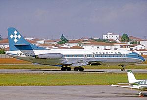 Serviços Aéreos Cruzeiro do Sul - Sud SE-210 Caravelle VIR of Cruzeiro at São Paulo Congonhas Airport in 1975