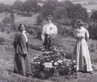 Adela Pankhurst - Suffragettes Adela Pankhurst, Jessie and Annie Kenney at Eagle House in 1910