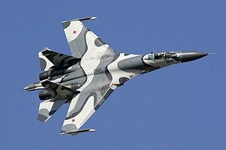 Sukhoi Su-27 - Image: Sukhoi Su 27SKM at MAKS 2005 airshow