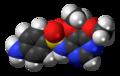 Sulfadoxine molecule spacefill.png