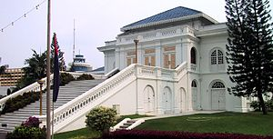 Johor Sultanate - The Istana Besar (Grand Palace), completed in 1866 under Abu Bakar of Johor's rule, serves as the seat and residence of the Johor Sultanate.