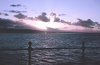 West Kirby - Sunset over the Marine Lake