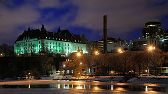Supreme Court of Canada - View from the Ottawa River at night