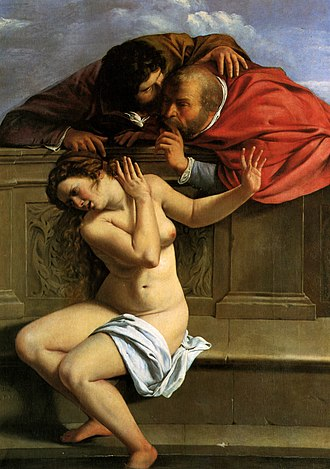 Artemisia Gentileschi - Susanna and the Elders, 1610, her first known work, Schönborn Collection, Pommersfelden