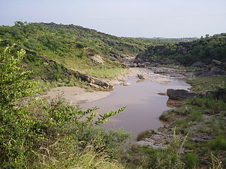 Soan River - The Soan River cutting through Pothohar