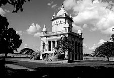 Black and white image of Belur Math
