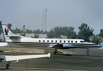 Wings West Airlines - Wings West Swearingen Metro operating in American Eagle colours at John Wayne Airport California in 1986