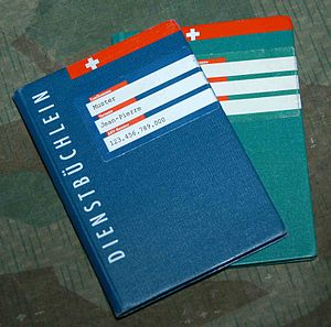 Conscription in Switzerland - Service record book