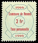 Switzerland Renens 1916 revenue 6 2Fr - 39.jpg