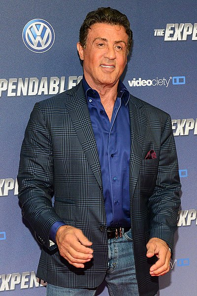 Sylvester Stallone, American actor, screenwriter, and film director