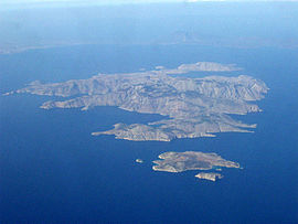 View of Symi, with Nimos offshore at top right