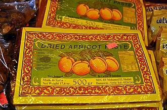 Qamar al-Din - Dried apricot paste for making Qamar al-Din in Syria.