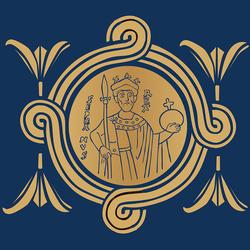 7cd99d0ca2 A fesztivál logója, melynek központi eleme a koronázási paláston látható  Szent István-ábrázolás