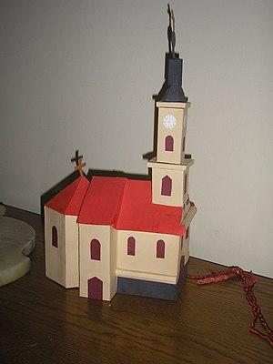 Church of St. Nicholas, Szeged - Image: Szegedi szerb ortodox templom makettje