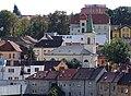 Třebíč, evangelický kostel, z Masarykovy vyhlídky.jpg