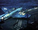 TBM Avenger aboard USS Matanikau (CVE-101), circa 1945.jpg