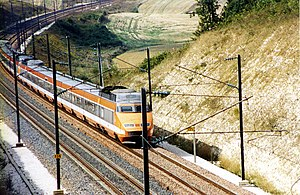 SNCF TGV Sud-Est - A TGV Sud-Est set in the original orange livery