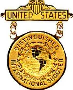 Awards and decorations of the United States Army - Image: THE DISTINGUISHED INTERNATIONAL SHOOTER BADGE