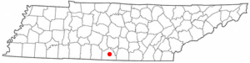 Location of Fayetteville, Tennessee