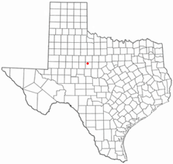 Location of Merkel, Texas