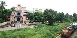 Thangal Kunju Musaliar College of Engineering - View of Kollam-Punalur Passenger Train passing by the college.