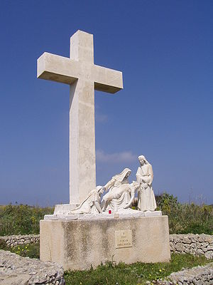 Culture of Malta - The 12th station on the Via Crucis of the Ta' Pinu Basilica in Għarb, Gozo
