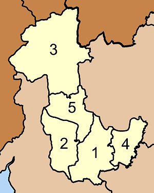 Wang Wiset District - Map of Tambon