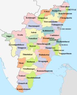 tamil nadu state map Tamil Nadu Wikipedia