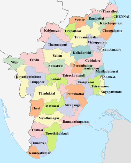 Districts of Tamil Nadu Tamil Nadu Districts.png