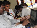 Tamil Wikipedia and Tamil Computing Workshop, Salem 2012 -Maa. Thamizhpparithi felicitating users2.JPG