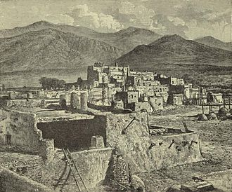 Taos Society of Artists - Taos Pueblo, Joseph Henry Sharp, 1893 illustration for Harper's Weekly